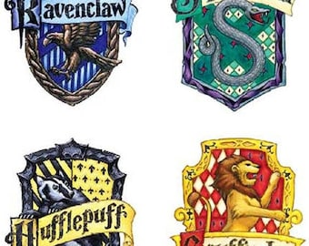 Hogwarts House  Rag Quilt Throw Sized
