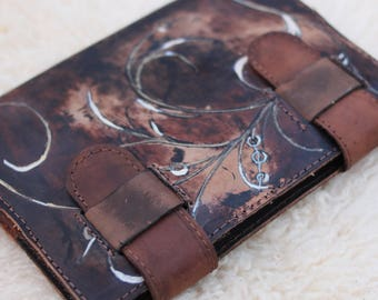 Unique Leather Journal Cover / One Of A Kind Leather Bound Book Cover / Leather Notebook Cover / Leather Journal Cover