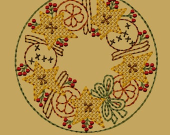 MACHINE EMBROIDERY-Orange, Cinnamon, Spice Candle Mat-4-Inch-Motif-Instant Download