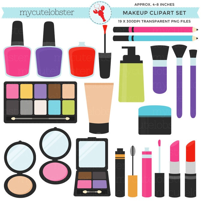 Makeup Clipart Set Clip Art Of Lipstick Nail Polish