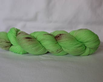 Hand Dyed Yarn - Superwash - Lace Weight - 2/14 nM - 100% Merino Wool - Tonal - Speckles - 'Slice of Heaven'
