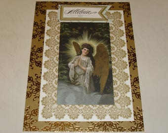 Christmas Alleluia Angel Card