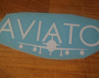 White Silicon Valley Aviato vinyl laptop decal/transfer sticker
