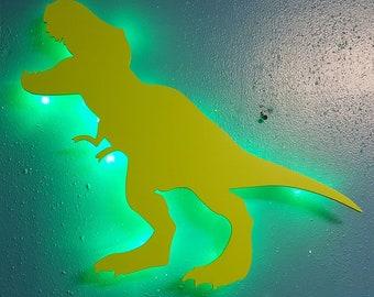 Dinosaur 3D Lighted Sign - Night Light, Kids room, Birthday,