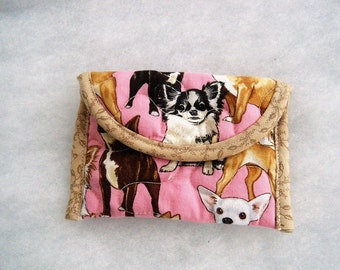 Quilted Card Holder - Chihuahua