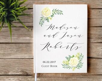 Rustic Wedding Guestbook, Custom Guest Book, Personalized Guest Book, Wedding Journal, Boho Wedding, Floral, Wedding Guest Book, Wedding