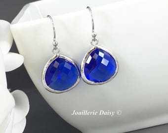 Royal Blue Wedding Bridesmaid Earrings Bridesmaid Gift Designation Wedding Summer Jewelry Gift for Her Royal Blue Earrings