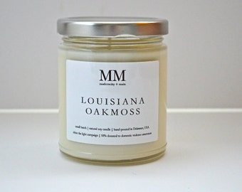 LOUISIANA OAKMOSS // 9oz // natural soy candle // hand-poured // small batch