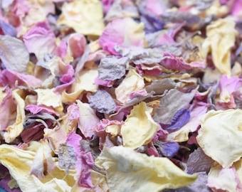 Biodegradable Wedding Confetti   Wedding Confetti   Pink Grey Ivory Delphinium Rose Natural   Classic Dream Cloud 100% Natural