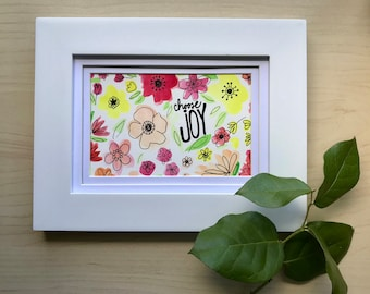 Choose Joy, watercolor art, 4x6