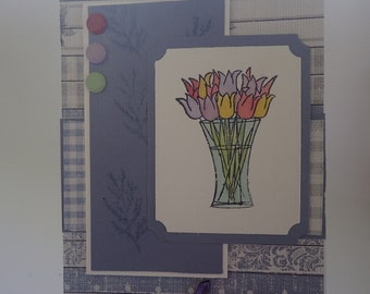 Beautiful handmade card for a woman
