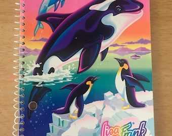 Vintage Lisa Frank Max Splash Orca Assignment Book