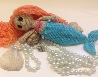 Crochet Mermaid doll, Mermaid with removable tail, stuffed mermaid toy, Mermaid amigurumi, plush toy
