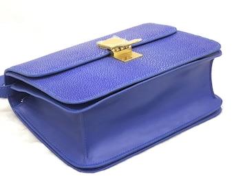 Woman bag,shoulder bag ,lizard bag, blue bag