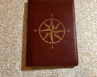 Compass RFID Passport Wallet | Vegan Leather