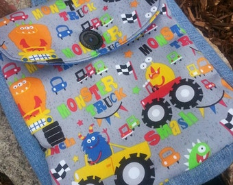 Monster Truck Backpack, Toddler Backpack, Boys Backpack, Preschool Backpack, Kids Backpack
