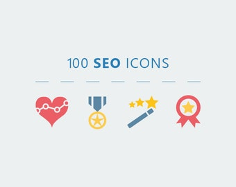 100 SEO Vector Icons