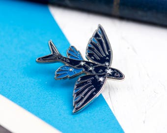 VOLANS Soft ENAMEL PIN Set Flying Fish Animal Star Constellations Glow in the Dark Astronomy Teenager Gift Ideas Flair Game Blue Sea Fishing