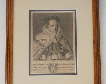 Edward Coke Engraving - 1719