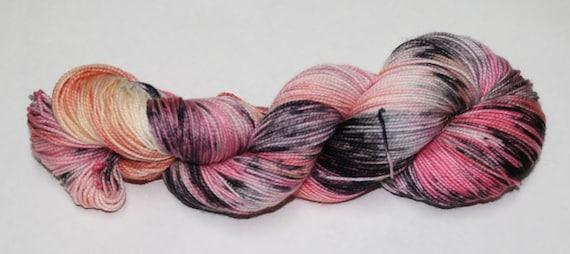 Ready to Ship - Zombie Romance Hand Dyed Sock Yarn - Twist Sock