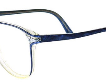 Vintage 1980s Blue Eyeglass Frames
