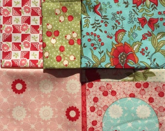 Bliss Bonnie and Camille moda fabrics 5 Fat Quarter Yard set Please Read