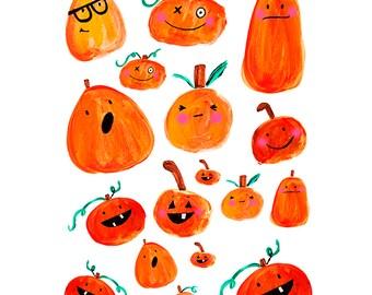 Pumpkin – Happy Halloween Stickers 002