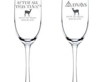 After All This Time?  Always Personalized Flutes - Harry Potter Wedding