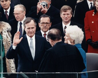 Poster, Many Sizes Available; President George H. W. Bush Inaugural Ceremonies Jan 20, 1989