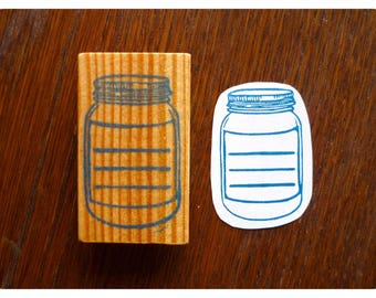 hand carved stamp for etiquette