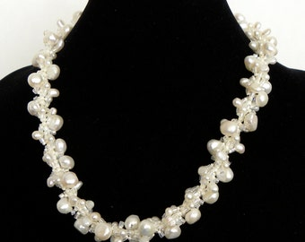Fresh Water Pearl Winter White Caitlin Necklace