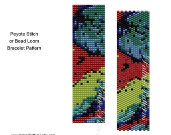 8/0 Bead Peyote Bracelet Pattern - 8/0 Seed Bead Pattern - 8 Bead 17 - Bead Loom Bracelet Pattern for Large Beads