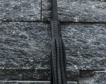 Black Leather Tassel For Tote/purse Vuzzi