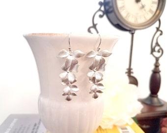 Wild Orchid Flower Earrings , Orchid Earrings, Flower earrings, Wedding, Bridesmaid gifts, Mother, Sister, Wife, Bridesmaid Gift