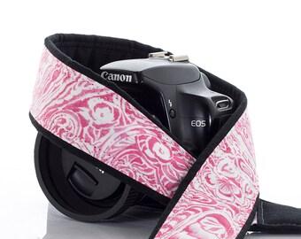 Pink Rose Paisley dSLR Camera Strap, SLR, 165 w