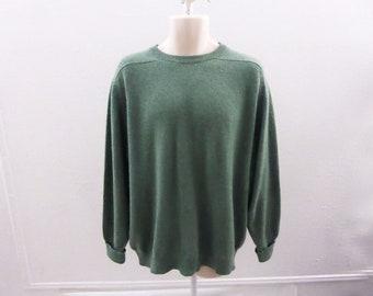 100% Cashmere Sweater Size XL Sage Green Crew Neck Mens Lyle Scott 56 Chest