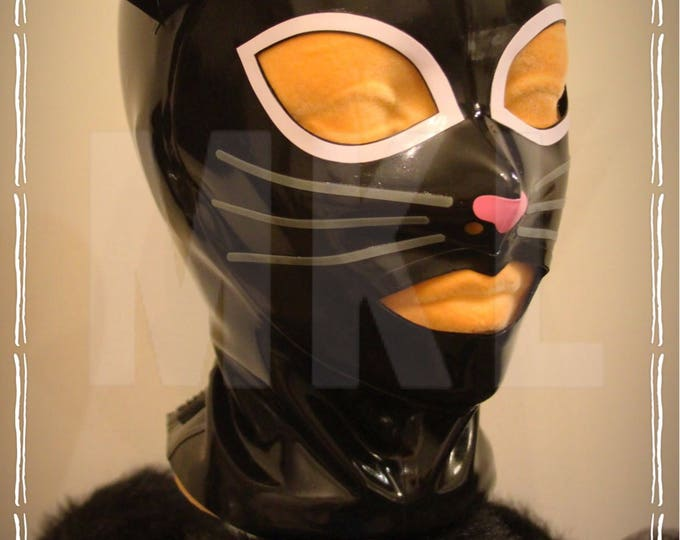 Kinky Kitty Latex Hood