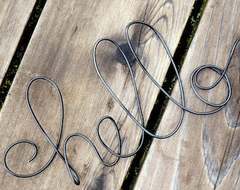 Pick Your Size Hello Sign In Wire For Wall