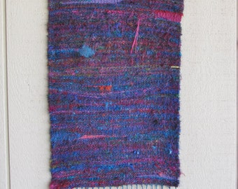 Handwoven Recycled Sari Silk Yarn Wall Hanging