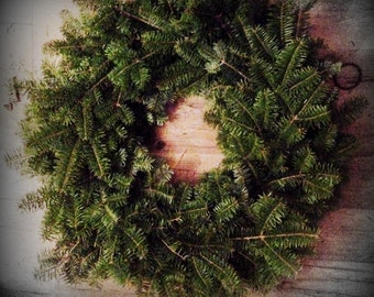 "24"" Christmas Wreath ~ Balsam Fir ~ Fresh~ Maine Made"