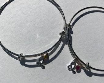 Leo Zodiac Charm Bangle Bracelet