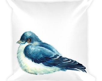 SWALLOW  -  Square Pillow  --  16x16    ship from  USA