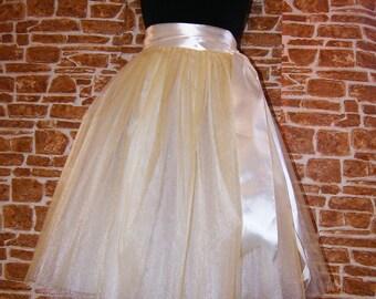 Ivory Tulle Skirt Beige Tutu Creamy Tulle Tutu skirt or White Tulle Tutu