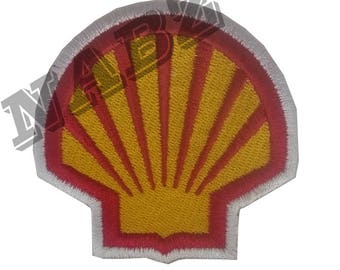 Shell Embroidery iron sew on Patch Badge