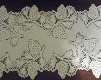 Vintage Heritage Lace Pinecone Runner