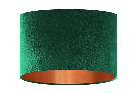 Velvet Lamp Shade Bottle Green Handmade Fabric Lampshade
