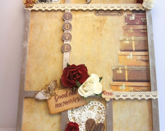 Vintage style photo frame wooden put - rectangle shape-