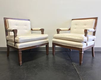 Mid 20th Century Button Tufted Lounge Chairs - Pair
