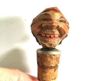 Hand Carved Wooden Bottle Stopper