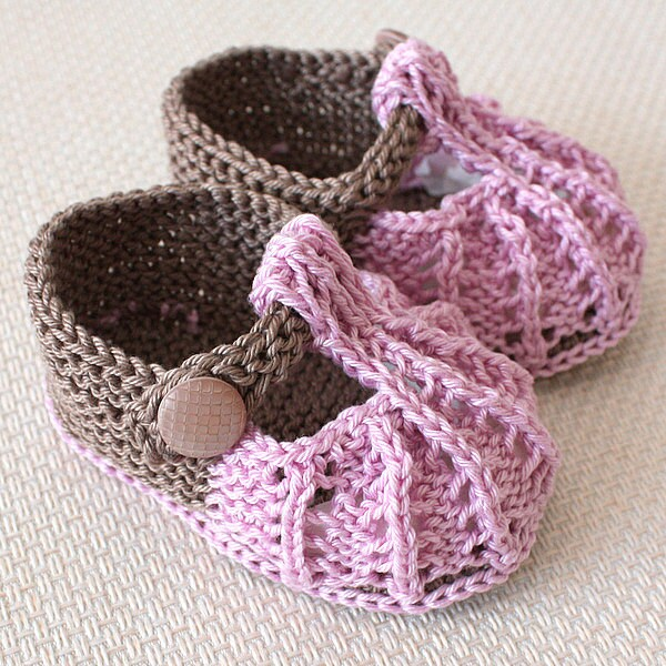 Knitting Pattern Pdf File Little Beads Baby Shoes Sizes 0 33 66